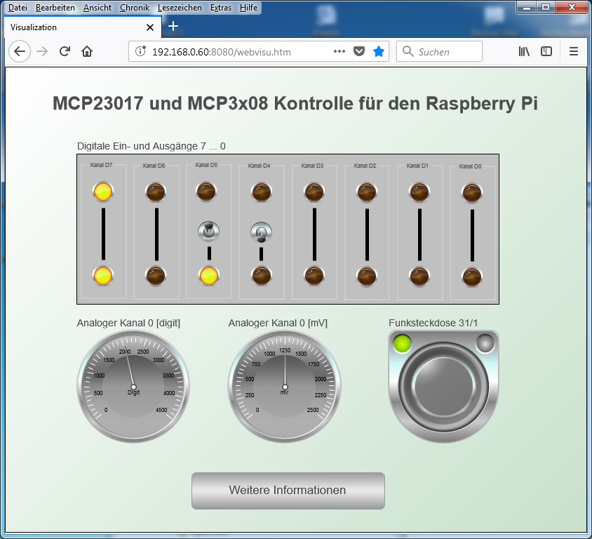 Vom MCP23017/MCP3008 IO Board zur CODESYS Soft-SPS - laufende