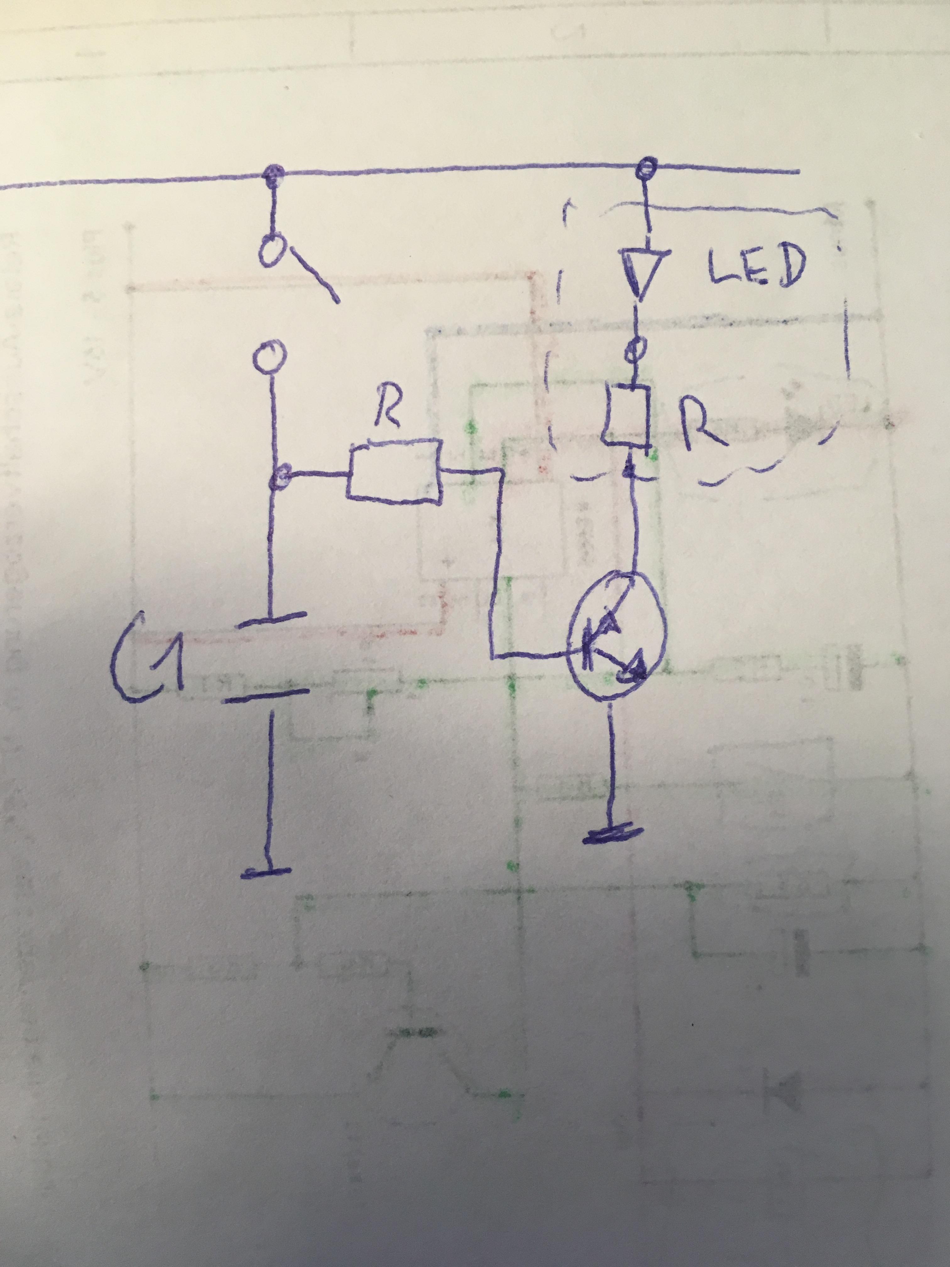 Verzögerungsschaltung Transistor Kondensator Schalter - Elektronik ...